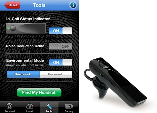 Sound ID's 510 Bluetooth headset has iPhone app to match