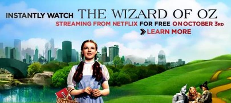 Off to see the Wizard? Netflix streaming the classic in HD today only
