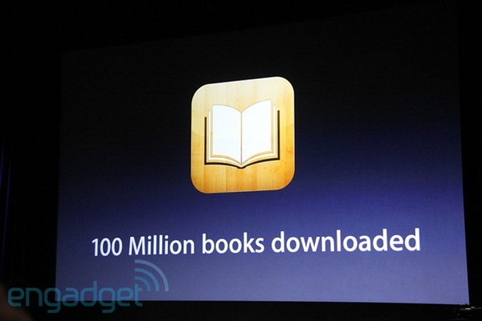 100 million books downloaded from iBooks, Random House titles added