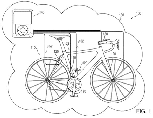 Apple patent application details iPod / iPhone bike integration system