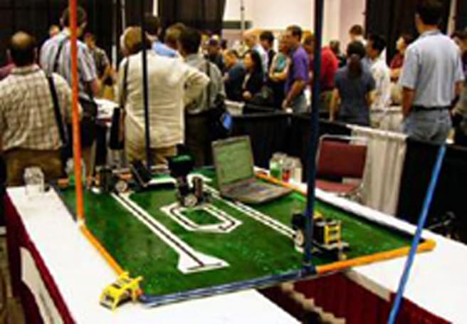 University of Illinois students show off Lego-based crop harvester