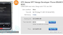 HTC Mazaa's awarded in dev contest, winners promptly splay (and auction) them to world