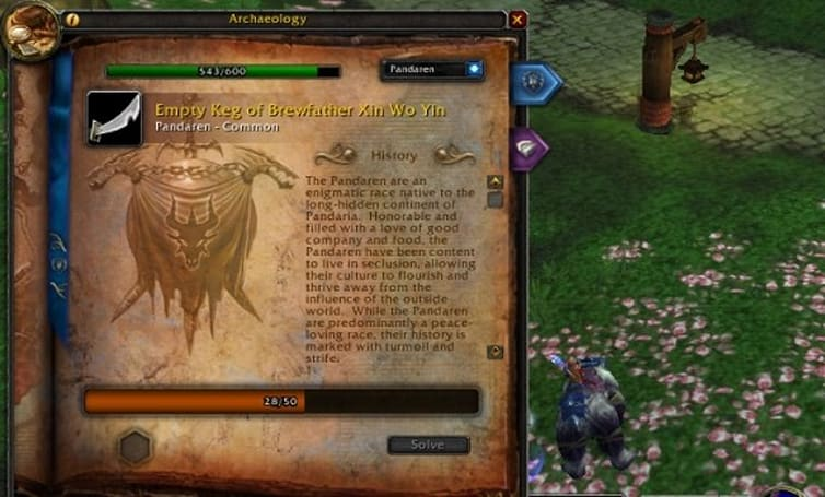 Improved digsites in Mists of Pandaria archaeology