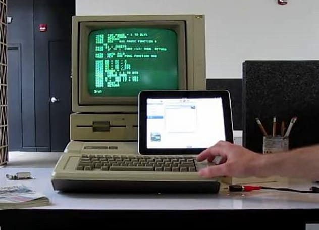 iPad used to replace Apple IIe data cassette, feels seriously underutilized (video)