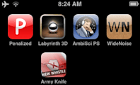 A fistful of apps: WideNoise, Labyrinth 3D, Penalized, Pure Sleep, Army Knife
