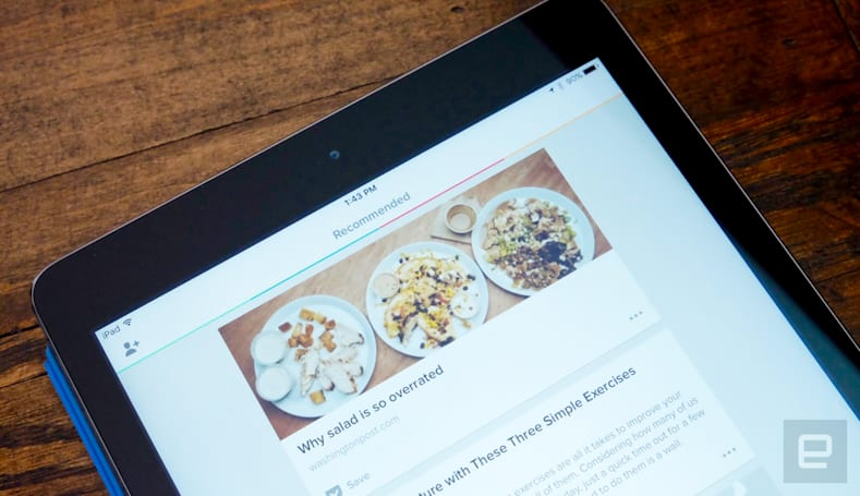 Pocket now includes 'sponsored' articles in its recommendation feed