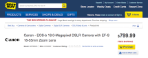 Canon's unannounced $800 18MP EOS-b DSLR pops up on Best Buy's website for pre-order