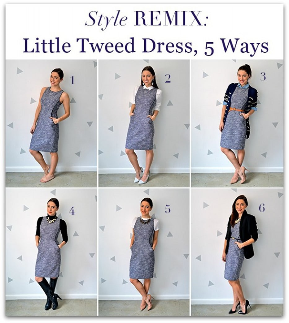 Style remix: Little tweed dress 5 ways