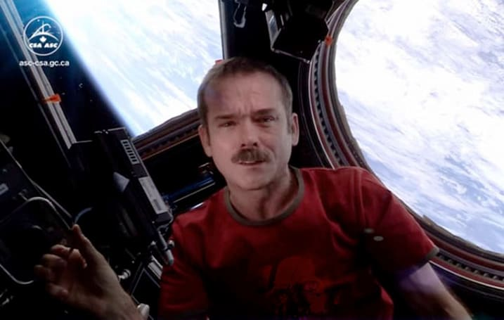 Chris Hadfield's zero-gravity cover of 'Space Oddity' returns to YouTube
