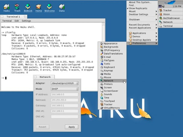 Haiku Alpha 1 available now: BeOS lovers of the world rejoice