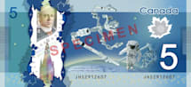 Canada puts its robot arms on $5 bills, leads the space currency race