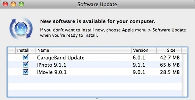 iLife '11 Software Updates: GarageBand, iMovie