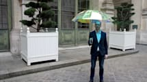 Smart umbrella tells you when it's going to rain