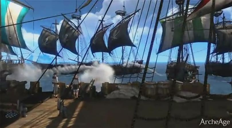 ArcheAge beta video highlights naval battles