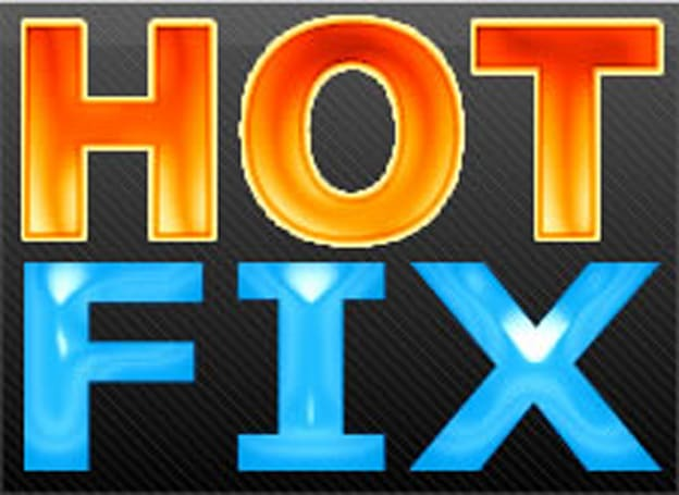 Incoming hot fixes and other bugs