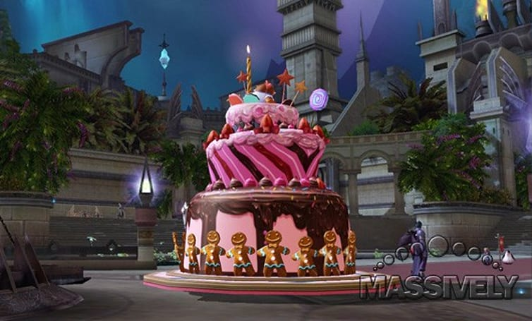 Aion's anniversary events include cakes, pirates, and an aethertech design contest