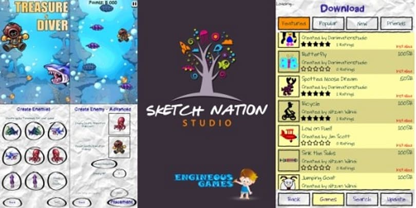 Play Sketch Nation Studio, publish title you created in-game, profit