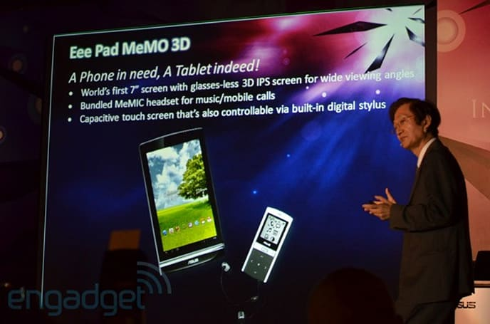 ASUS Eee Pad MeMO to come with glassesless 3D IPS display (update: video!)