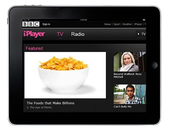 BBC iPlayer to start international rollout with subscription service on iPad