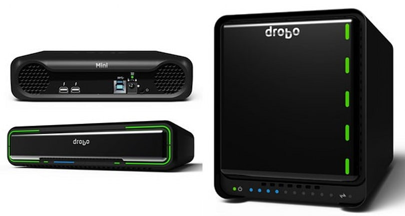 Drobo debuts a duo of Thunderbolt drives: the 5D for desktops and the Mini for road warriors