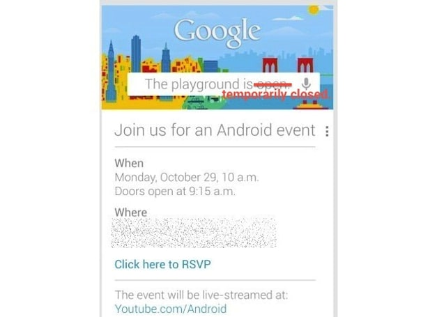 Google postpones October 29th event over Hurricane Sandy worries