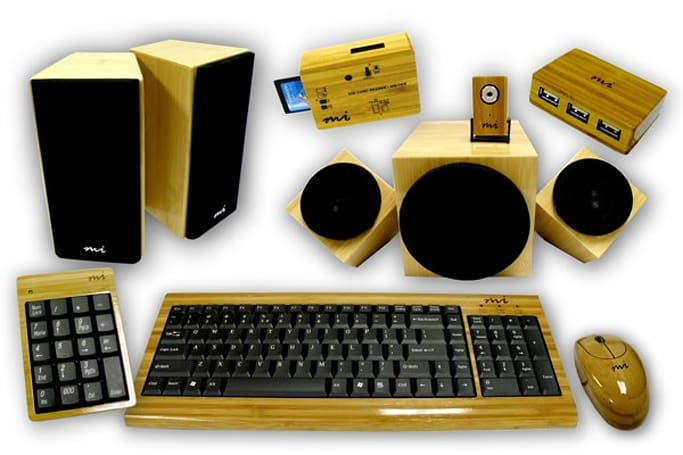 Micro Innovations's bamboo lineup might just save the world... from generic computer peripherals