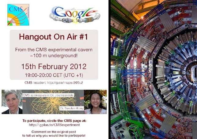 CERN crew takes to Google+ for live Hangout