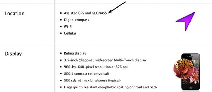 iPhone 4S supports GLONASS satellite system, much to the delight of Russia