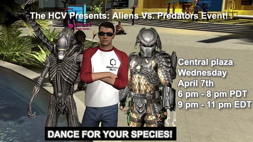 Aliens vs. Predator in PlayStation Home dance-off