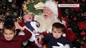 Kids Have Meltdowns on Santa's Lap
