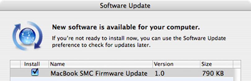 MacBook SMC Firmware Update 1.0