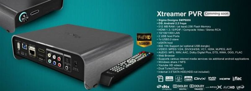 Android's everywhere! Xtreamer PVR to serve up a heaping helping of Froyo in your home theater