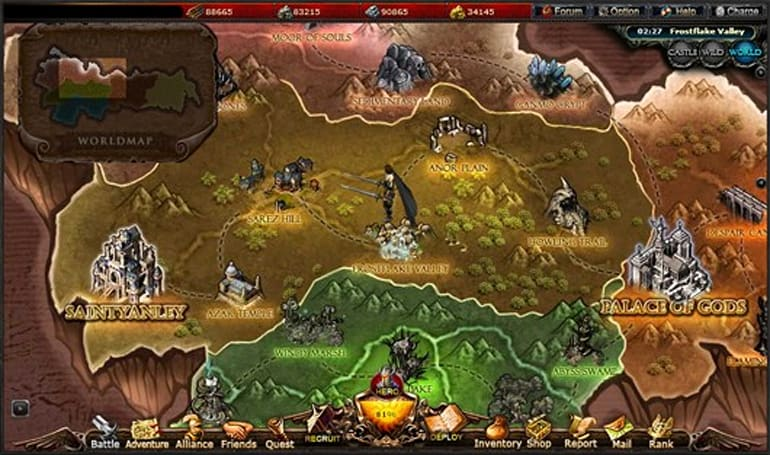 Aeria opens new server for Call of Gods MMORTS