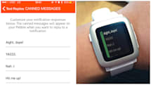 Pebble adds custom messages and more in latest update