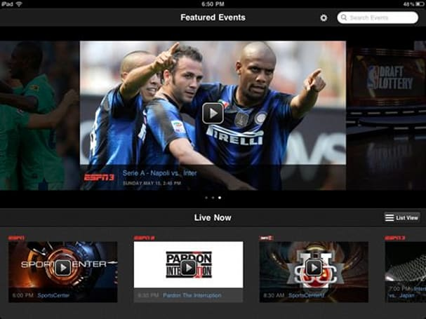 WatchESPN app upgraded for iPad, still restricted to just a few TV providers