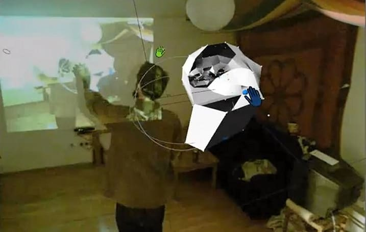 Kinect + homemade Power Gloves = 3D modeling in free-space (video)