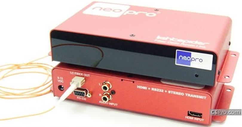 Neothings LightSpider takes HDMI signals 300 feet over fiber