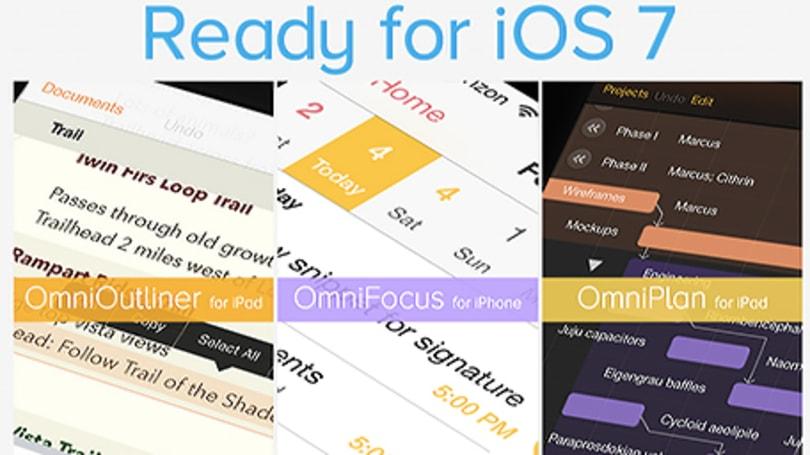 OmniGroup overhauls OmniOutliner, OmniFocus and OmniPlan for iOS 7