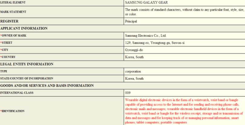 Samsung trademark filing for 'Galaxy Gear' hints at smartwatch