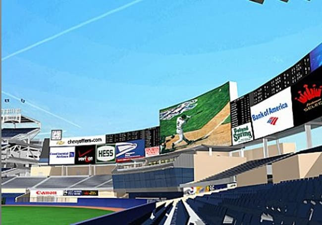 101- by 59-foot HD scoreboard coming to the new Yankee Stadium