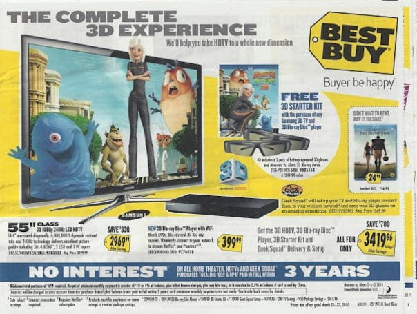 Best Buy's 3D bundle pricing isn't as much of a deal as it appears