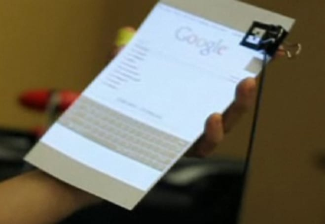 Latest SixthSense demo features paper 'laptop,' camera gestures