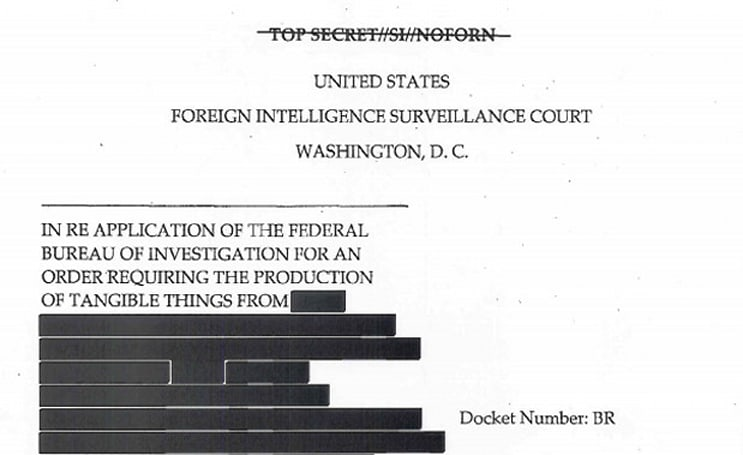 US government declassifies documents concerning telephonic data collection