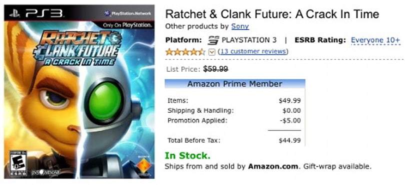 Ratchet & Clank Future: A Crack in Price