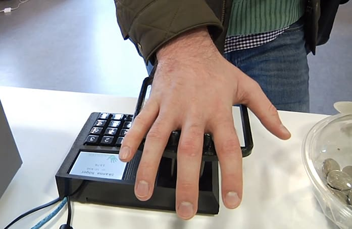 Swedish students cook up a way to pay with your hands
