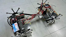 Japanese bridge inspection robot has magnetic wheels, shuffles up walls