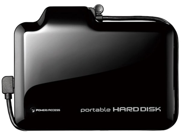 I-O Data's HDPN-U500/V portable hard drive pulls video from your camcorder, plays it on your TV