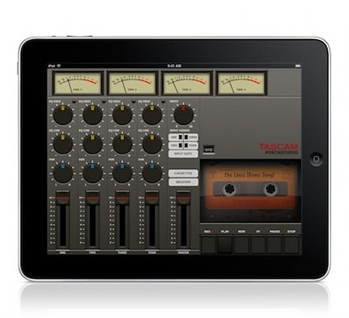 Tascam introduces Portastudio, 4-track recording on your iPad