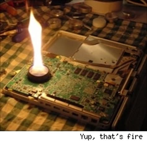 Repair your iBook's logic board with a candle