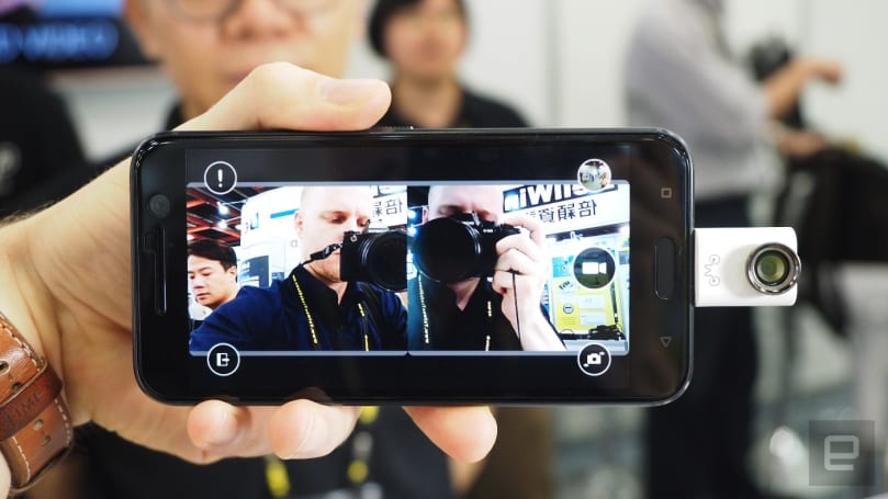 Plug this into your Android phone and it records 3D video